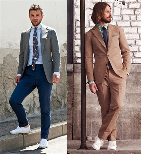 how to wear a white suit for your wedding brides how to wear sneakers with suits by arthur chan details