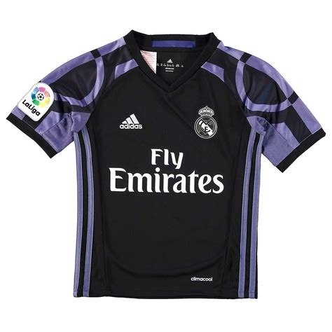 Jersey Real Madrid 3rd adidas real madrid third jersey 2016 2017 juniors black