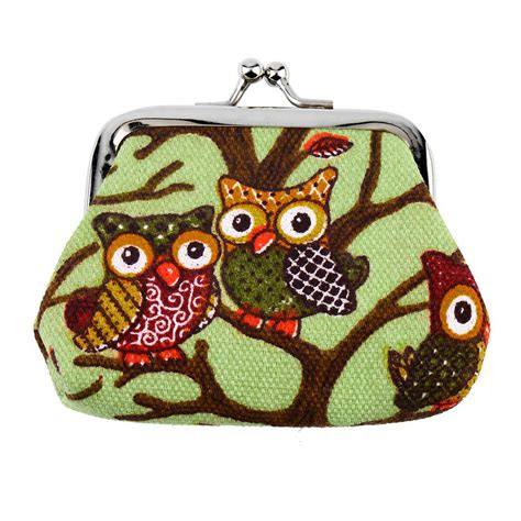 Owl Bag Multi Fungsi multi color owl design coin money bag purse wallet canvas