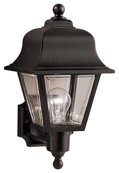 transitional outdoor lighting kichler lighting 9302bk outdoor plastic fixtures