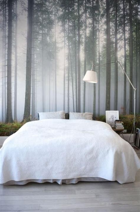bedroom wall mural ideas carta da parati bosco da letto homerefresh
