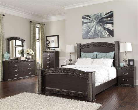Vachel 6 Pc Bedroom Dresser Mirror Queen Poster Bed B264 31 | vachel 6 piece bedroom set price busters