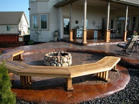 benches around fire pit patio bench around fire pit for the home pinterest