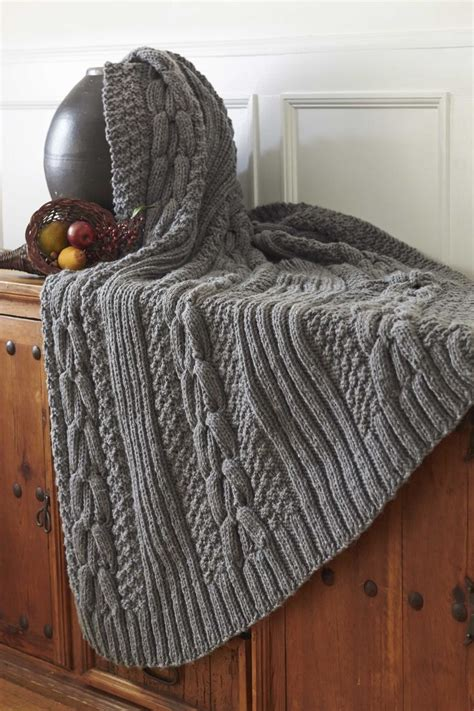 bernat afghan knitting patterns 25 best ideas about cable knit blankets on