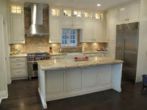 Houzz Kitchen Backsplashes Award Winning Kitchen With Brick Backsplash Chicago