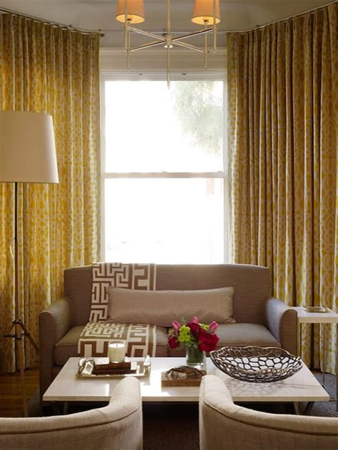 Curtains For Yellow Living Room Decor Yellow Curtains Contemporary Living Room Style At Home