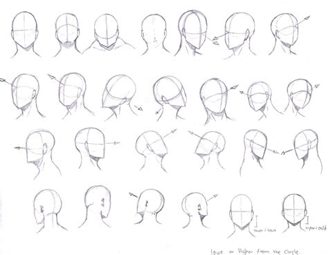 how to draw heads at different angles angles by kcsteiner on deviantart