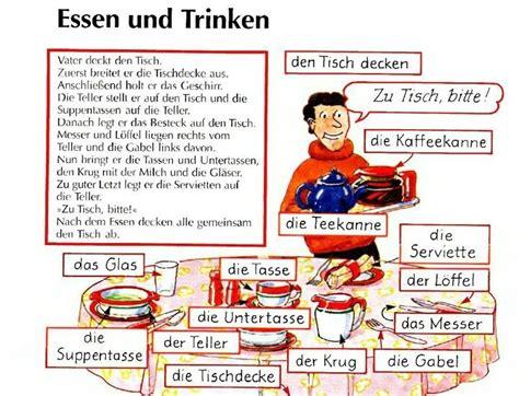 tisch decken essen und trinken den tisch decken deutsche sprache