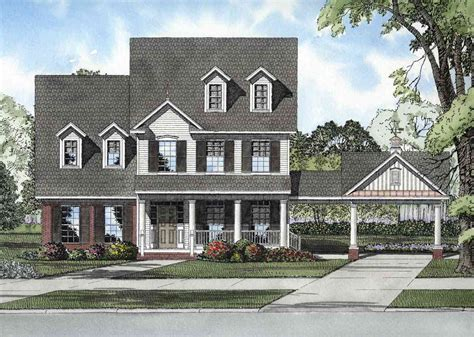 craftsman house plans with porte cochere protective porte cochere 59293nd cad available