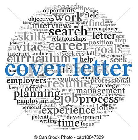 Artist Illustrator Cover Letter by Clip Of Cover Letter Concept In Word Tag Cloud On White Background Csp10847329 Search