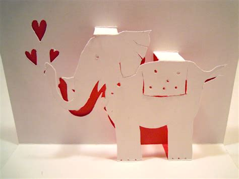 elephant pop up card template an elephant a day elephant no 134 pop up card