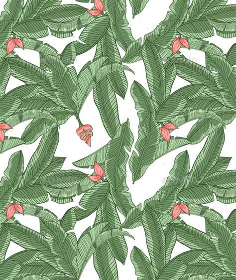 banana leaf seamless pattern by creativemedialab