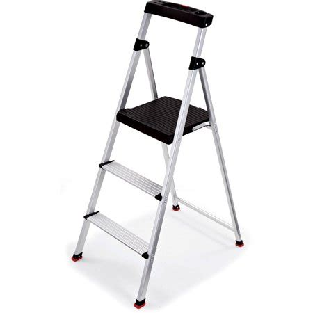 Lightweight 2 Step Stool by Rubbermaid 3 Step Lightweight Aluminum Step Stool With