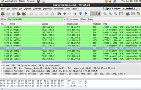 wireshark filter port wireshark network protocol analyzer tool for rhel centos