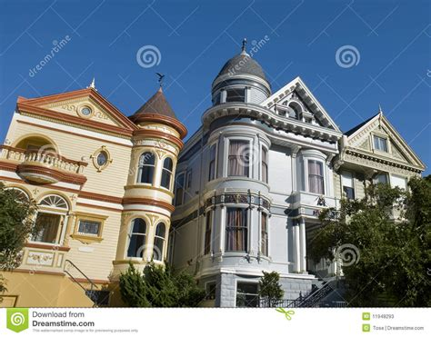 houses in san francisco colorful victorian houses in san francisco stock photos image 11948293