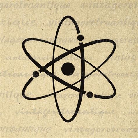 atom age tattoo printable atomic symbol image graphic atoms