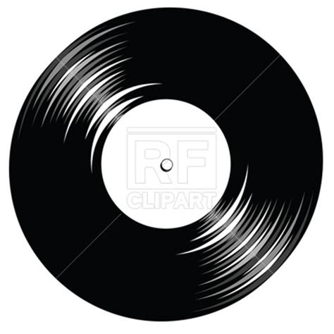 vintage vinyl record with space for text vector clipart