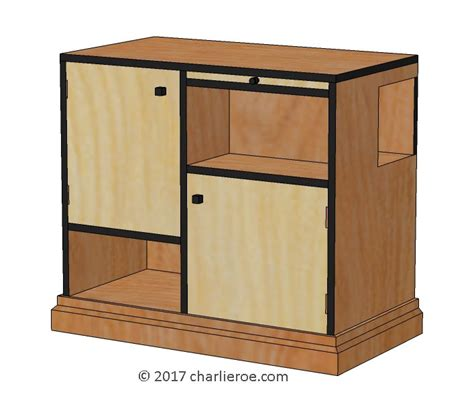 Paul Cabinets by New Paul Frankl Deco Skyscraper Style Cabinets
