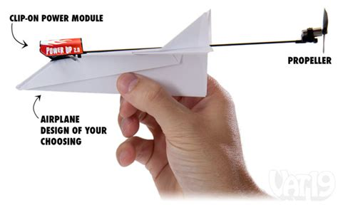 How To Make A Motorized Paper Airplane - powerup electric power module for paper airplanes
