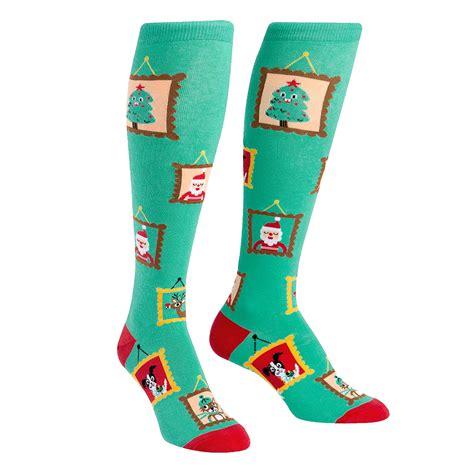 christmas sock holiday photos knee high socks ladies christmas socks
