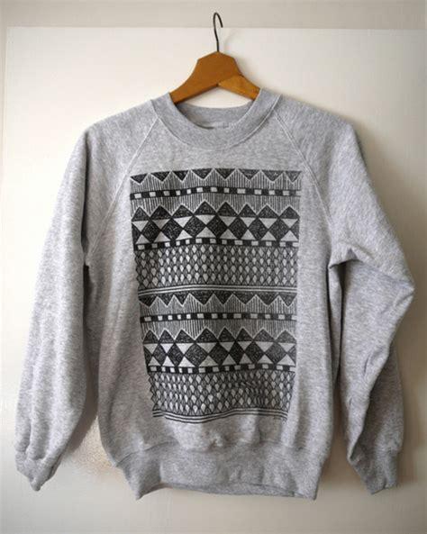 tribal pattern sweatshirts sweater hipster crewneck oversized sweater aztec