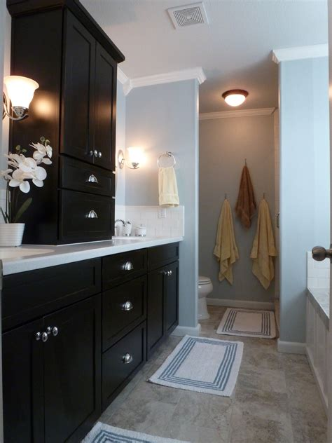 black bathroom cabinet ideas black and blue and beautiful bathroom remodel