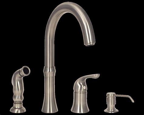 Touch Sensitive Kitchen Faucet 4 Hole Kitchen Faucet With Soap Dispenser