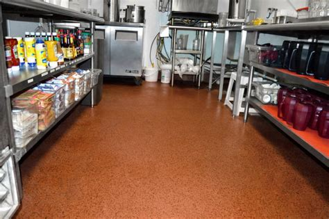 healthy hygienic commerical kitchen restaurant flooring