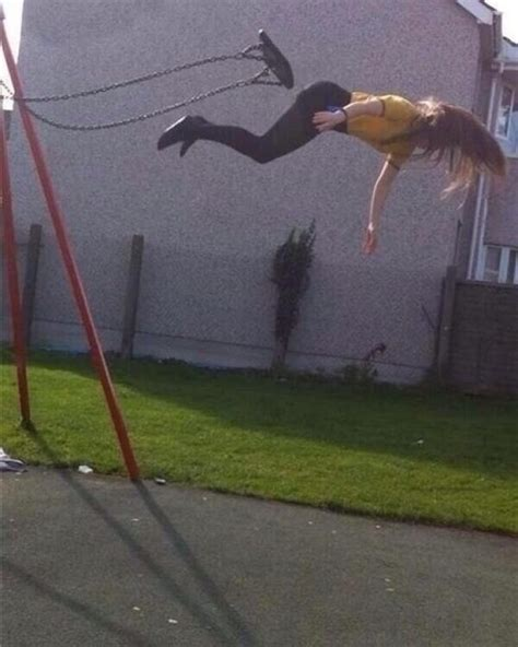 people falling off swings 23 hilarious pictures taken right before disaster struck
