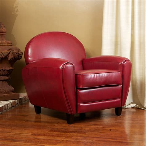 Living Room Club Chairs by Hayley Ruby Leather Club Chair Modern Living Room Los Angeles By Great Deal Furniture