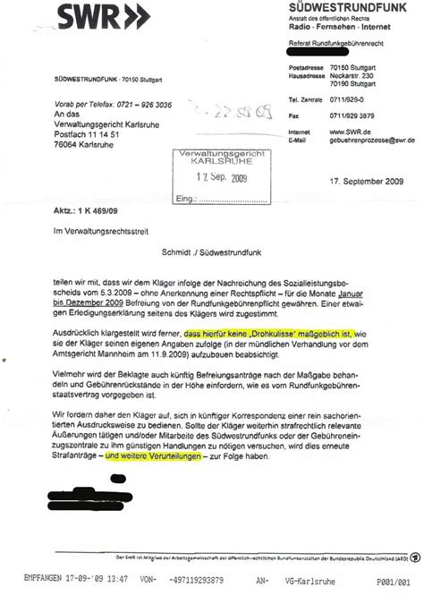 Adrebe Anschrift Herrn Und Frau Gez Befreiungsantrag