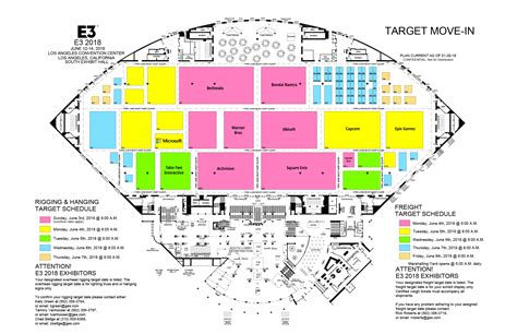 e3 2018 preliminary floor plans nintendo everything