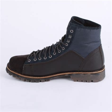 navy boots mens diesel king mens ankle boots in navy brown