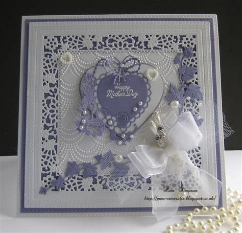 lace for card pamscrafts tattered lace mothers day card