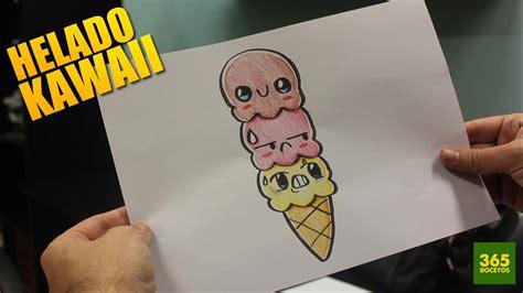 imagenes de helados kawaii para dibujar como dibujar bolas helado kawaii paso a paso dibujos