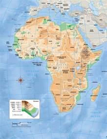 africa map geography maps africa physical map