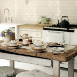 Table Island Kitchen Rustic White Kitchen Island Kitchenidease Com