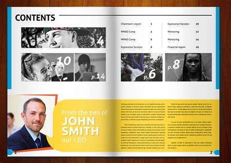 magazine template design bold playful magazine design for brook by
