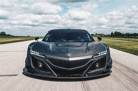 drool the acura nsx gt3 s exposed carbon fiber bodywork