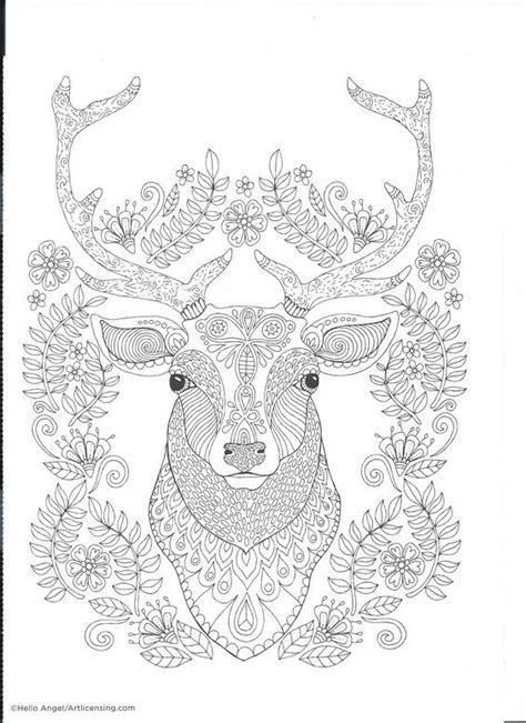 coloring pages for adults deer 294 best coloring deer images on pinterest adult