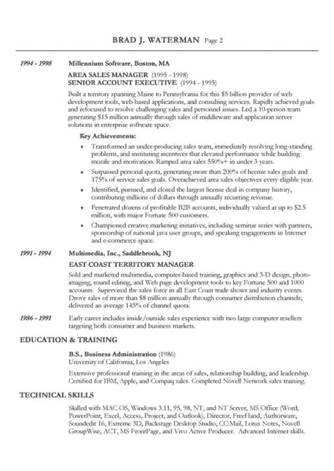 exles of chronological resumes chronological resume exle sle