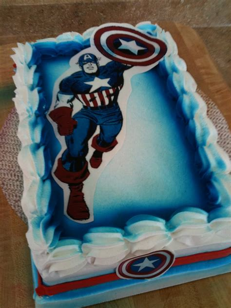 birthday cake captain america cakes decoration ideas little birthday