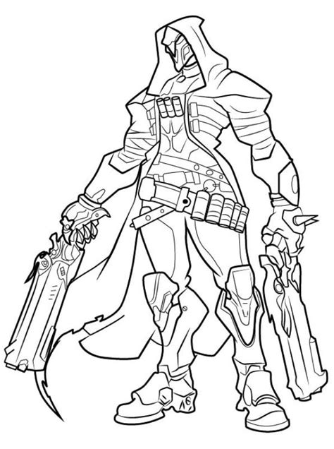 libro overwatch coloring book kids n fun com coloring page overwatch reaper