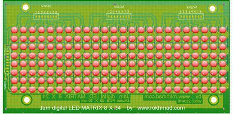 membuat jam digital dengan dot matrix membuat jam digital dari 192 led yang disusun matrix untuk
