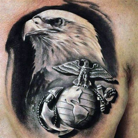 90 marine tattoos for men semper fi ink design ideas