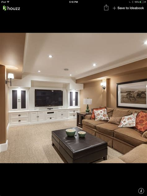 basement ideas living rooms built in design ideas