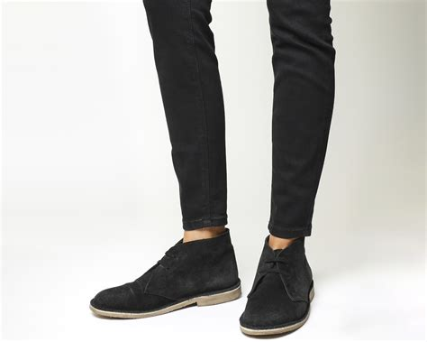 black desert boots womens office uphill desert boot black suede black sole
