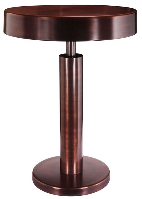 copper accent table altair copper antique accent table 65048acop kenroy home
