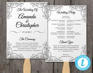 free wedding fan templates vintage wedding program fan template fan wedding by youprintem