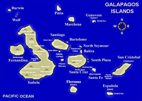 galapagos map galapagos islands